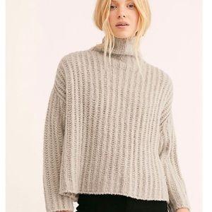 Free People Fluffy Fox Turtleneck Cowl Sweater S